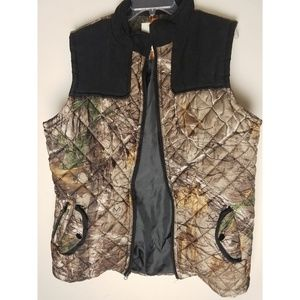 Realtree camouflage puffy vest xlarge